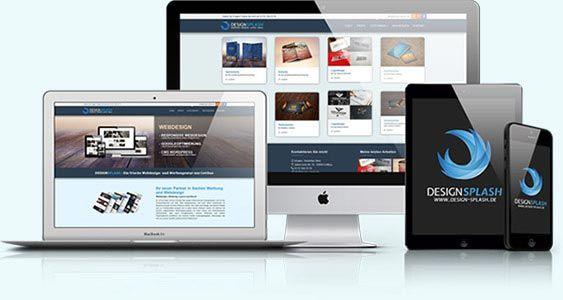 Überblick DesignSplash Webdesign und Werbung aus Cottbus